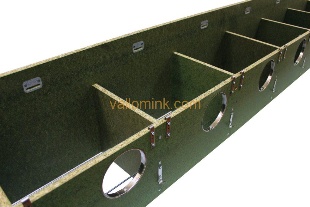 Green water resistant chipboard breeding boxes